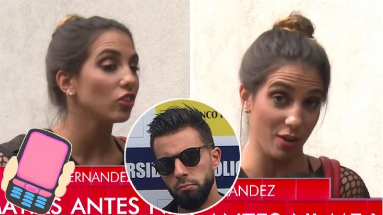 Cinthia Fernández negó que Matías Defederico le haya encontrado charlas con otros hombres en su celular. (Foto: TV)