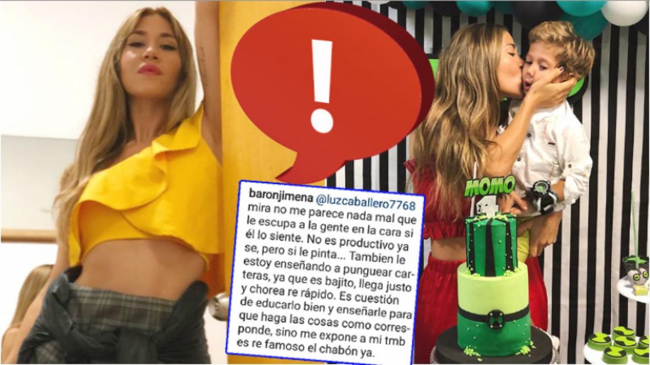 Jimena Barón cruzó a un fan que la criticó por sus fotos