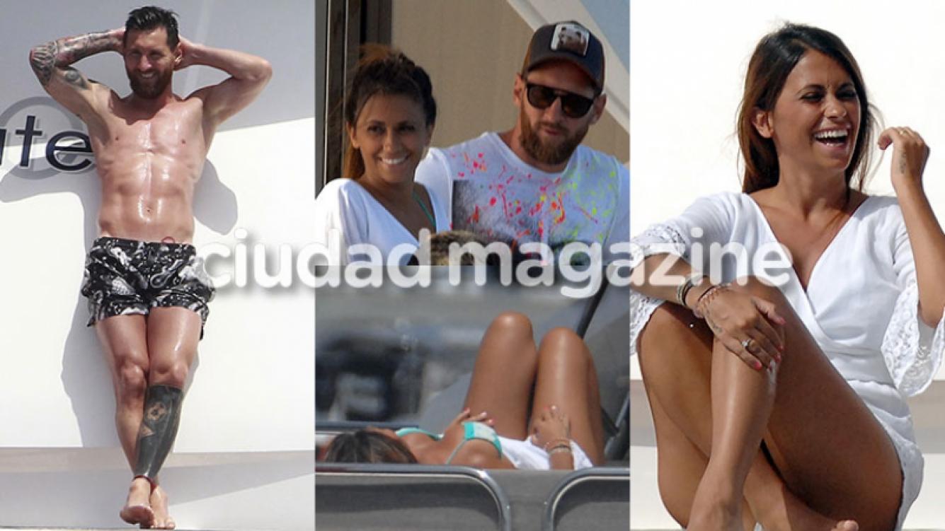 Lionel Messi y Antonela Roccuzzo disfrutan de sus vacaciones familiares (Fotos: GrosbyGroup).