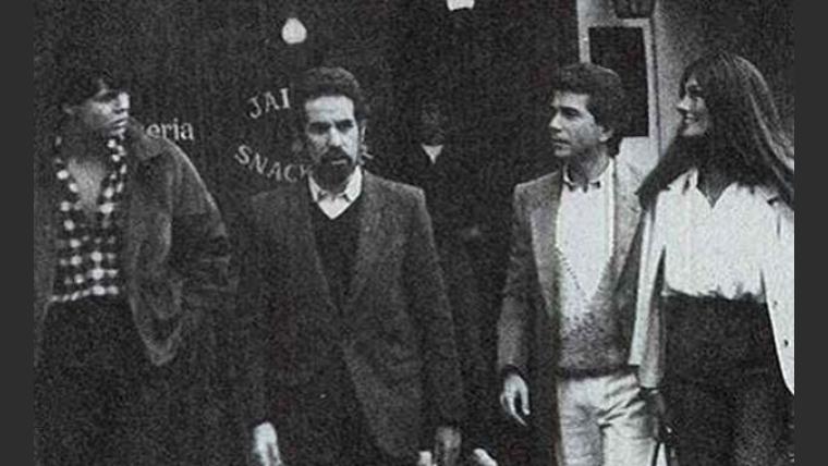 Marcelo Tinelli, Pepe Eliaschev, Juan Alberto Badía y Silvia Fernández Barrios.  (Foto: revista Viva)