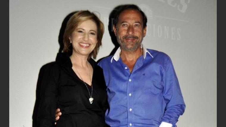 Mercedes Morán y Guillermo Francella en la presentación de El hombre de tu vida 2. (Foto: Jennifer Rubio)