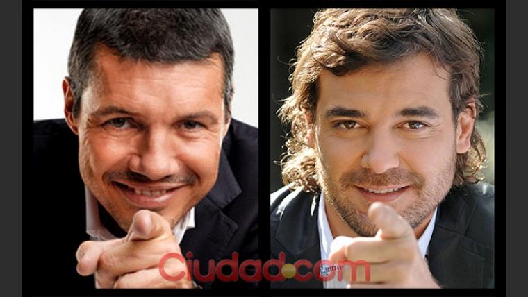 Pedro Alfonso jugó a posar como Marcelo Tinelli. (Foto: Maxi Didari - Ciudad.com)