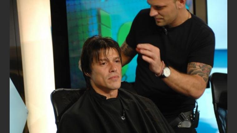 El resultado final del corte de pelo de Matías Almeyda.