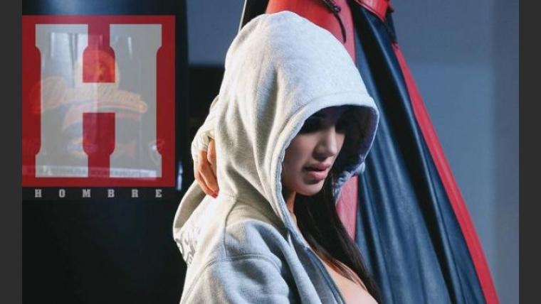 Andrea Rincón, boxeadora sexy. (Fotos: revista Hombre)
