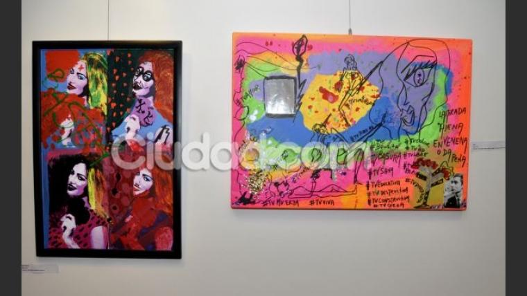 Belén Francese exhibió sus obras en la muestra Belu Art. (Foto: Jennifer Rubio - Ciudad.com)