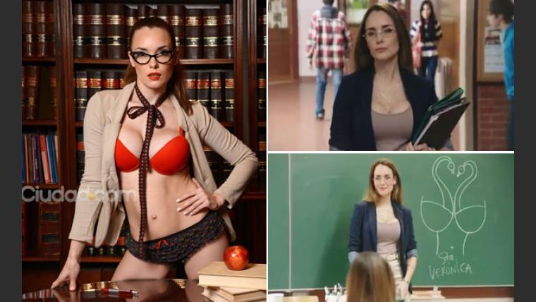 Valeria Olivero, la Profe Sexy de Saladix. (Foto: Maxi Didari y captura TV)