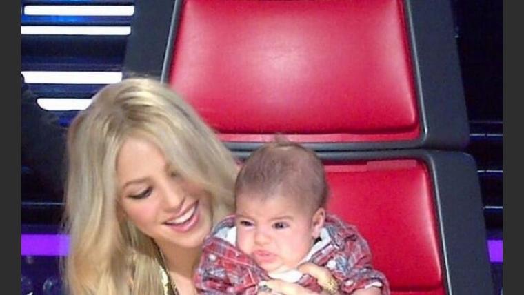 Shakira llevó a su bebé a las grabaciones de The Voice. (Foto: Twitter.com/shakira)