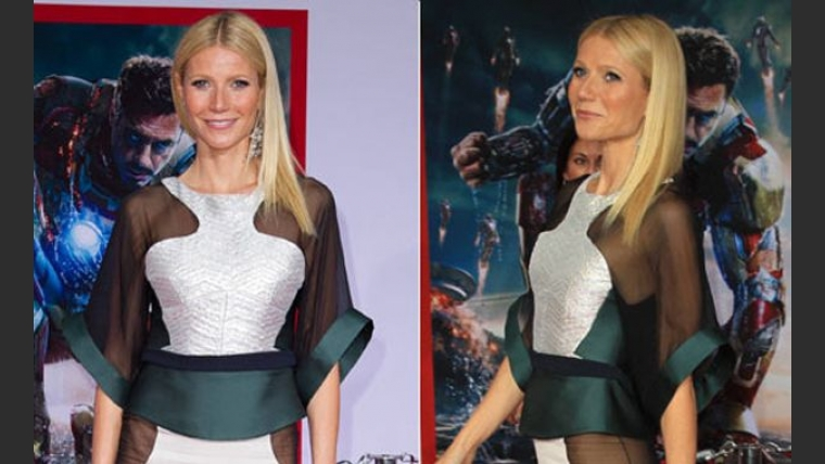 Gwyneth Paltrow, muy sexy a la premiere de Iron Man 3. (Foto: Web)