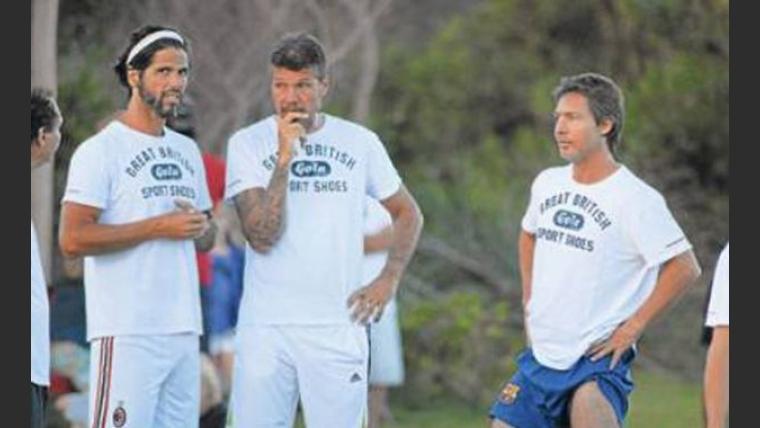 Tinelli, Ribero y Suar compartiendo un partido de fútbol. (Foto: Web)