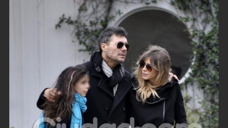 Marcelo Tinelli y Guillermina Valdés, en el último adiós a Fede Ribero. (Foto: Jennifer Rubio-Ciudad.com)