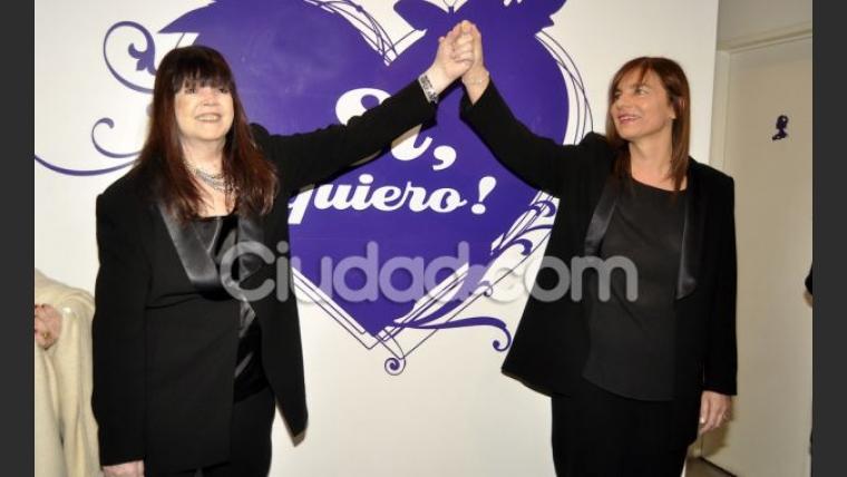 Marilina Ross y Patricia Rincci se casaron por civil. (Foto: Jennifer Rubio)