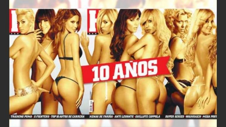Las diosas de los diez años de la revista H (Foto: revista Hombre).