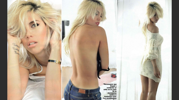 Wanda Nara y su destape hot. (Fotos: revista Gente)