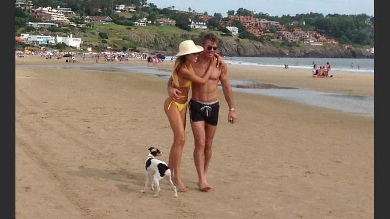 Bárbara Franco y Fernando Burlando, enamoradísimos en Punta del Este. (Foto: Album de Barby Franco)