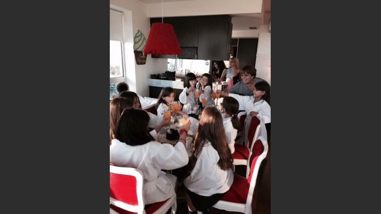Amalia Granata le festejó el cumpleaños a Uma. (Foto: gentileza de Amalia Granata)