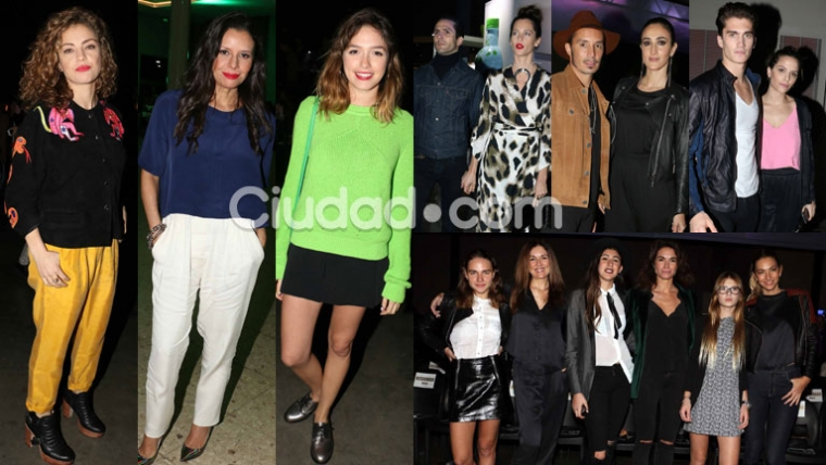 Los famosos disfrutaron de lo mejor de la moda en el BAFWeek (Fotos: Movilpress).