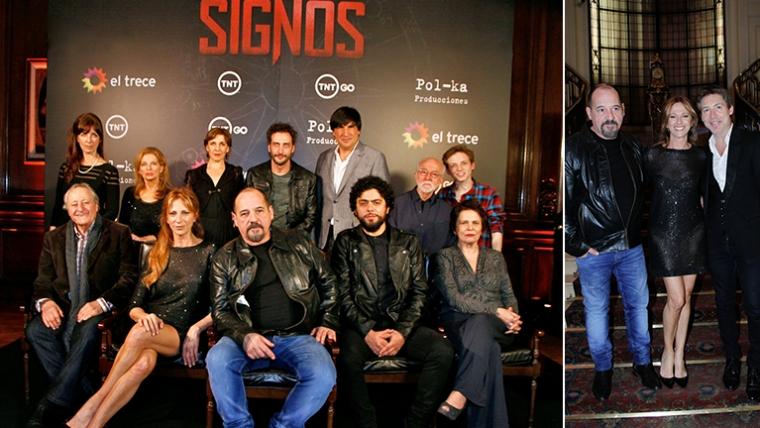 El elenco de Signos, la nueva ficción de El Trece. (Fotos: Prensa El Trece)