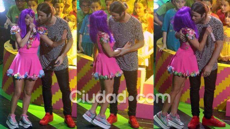 Lali Espósito y Benjamín Amadeo, juntos en los Kids' Choice Awards (Fotos: Movilpress).