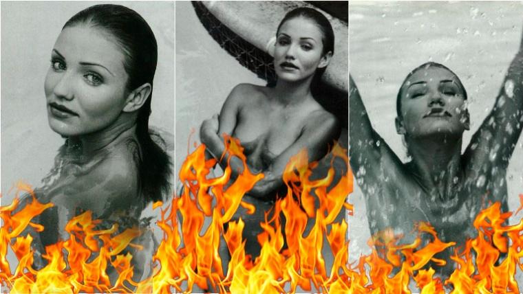 Las fotos al desnudo de Cameron Diaz. Foto: Web