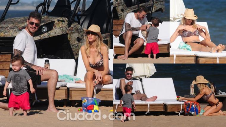 Marcelo Tinelli y Guillermina Valdés, felices junto a Lolo en Punta (Fotos: MSnews).
