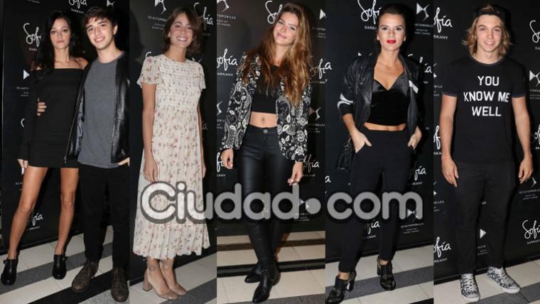 Los famosos se lucieron con sus looks para acompañar a Sofía Sarkany (Fotos: Movilpress).