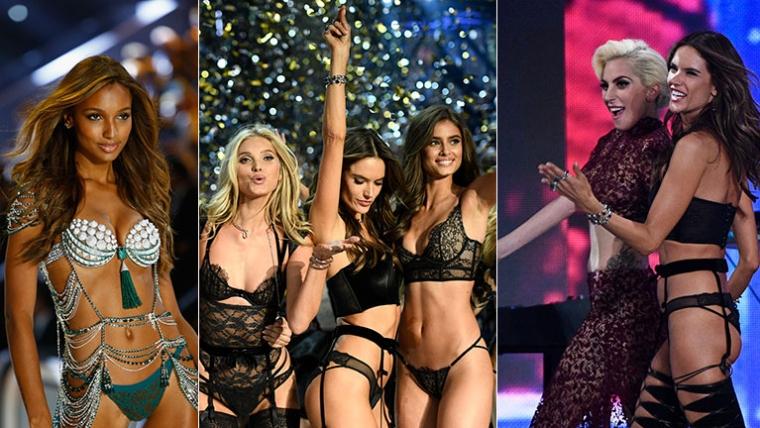 Imponente desfile en París de Victoria's Secret. Foto: AFP.