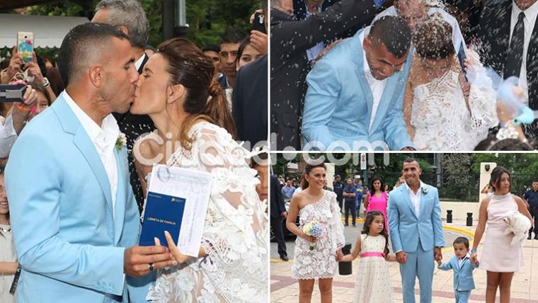 Las fotos del casamiento de Carlos Tevez y Vanesa Mansilla. (Foto: Movilpress)