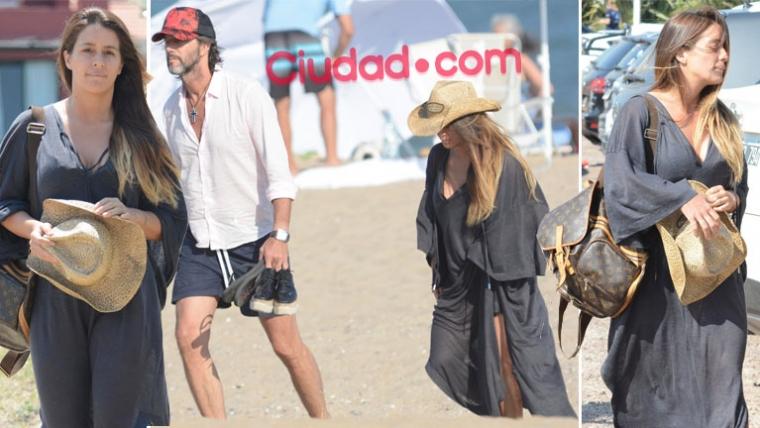Vito Rodríguez y Eduardo Celasco, embarazados en Punta del Este. (Foto GM Press - Ciudad.com)