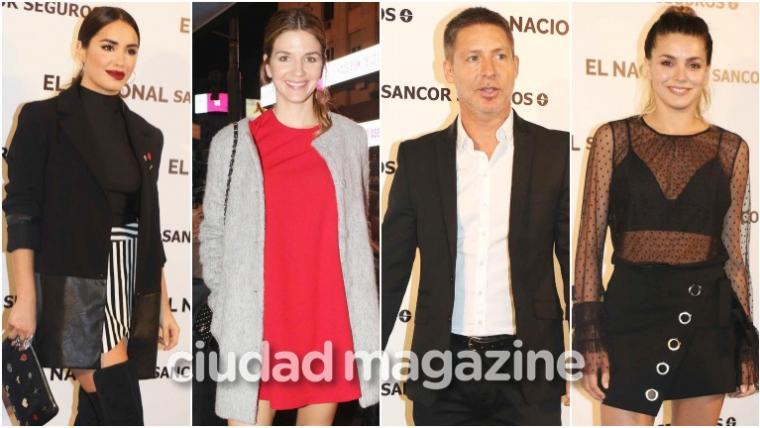 Todos los looks de los famosos en la gran reinauguración del teatro El Nacional