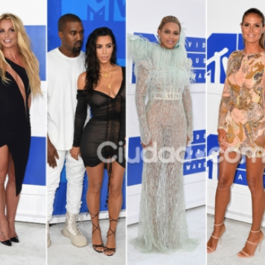 Los famosos en los premios MTV VMA 2016. Fotos: AFP