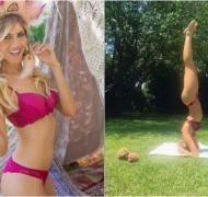 Candela Ruggeri y una posición de yoga muy hot en bikini. Foto: Instagram