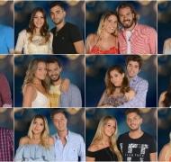 Las fotos de las parejas de Despedida de solteros. Fotos: Telefe