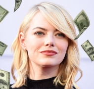 Emma Stone, la actriz mejor paga del mundo en 2017. Foto: AFP.
