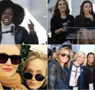 Famosas de Hollywood se unieron a la Marcha de las Mujeres 2018