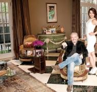 """El detalle """"animal"""" del living de la mansión de Vannucci y Garfunkel (Foto: revista Hola!)"""