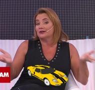 El percance de Nancy Pazos con su auto en plena autopista