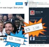 El insólito tweet que está punto de destronar al de los Oscar como el más retwitteado. Foto: Twitter