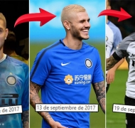 ¡Tres looks en una semana! Mauro Icardi, de castaño a platinado… ¡y mirá qué se hizo ahora!