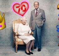 ¡Bodas de titanio! La tierna foto de la reina Isabel II y el príncipe Felipe por su 70° aniversario de casados