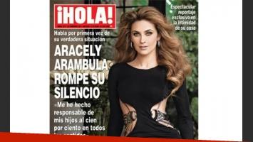 Aracely Arámbula rompe el silencio en la revista ¡Hola! de México.