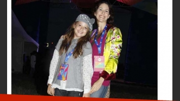 Laura Novoa fue con su hija a ver a Shakira (Foto: Personal)