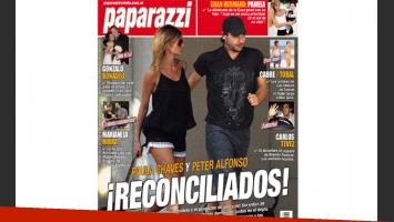 Paula Chaves y Peter Alfonso, segund vuelta. Foto: revista Paparazzi.