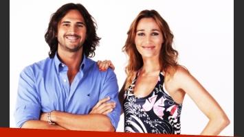 Leo Montero y Verónica Lozano, listos para el estreno de PM. (Foto: Telefe)