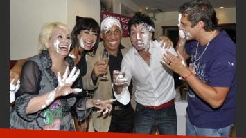 Carmen Barbieri, festejó su cumple a los tortazos. (Foto: Ciudad.com-Jennifer Rubio).