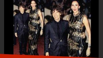Mick Jagger y su novia en la alfombra roja. (Foto: ¡Hola! Argentina)