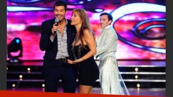 Marcelo Tinelli se ríe junto a Grace, ante la mirada atenta Pachano. (Foto: Jorge Luengo)
