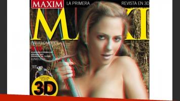 Rocío Magallán y su desnudo 3D. (Foto: Maxim)