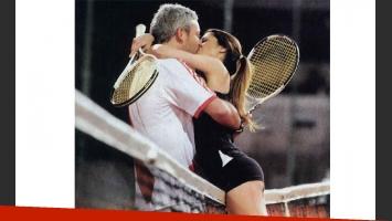 Victoria Vannucci y Matías Garfunkel, beso sin red. (Foto: revista Gente)