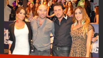Las Mellizas Petardo, Victoria y Soledad Rodríguez, conducen 2012 Bajo Cero. (Foto: Canal 8)