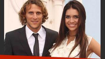 Diego Forlán y Zaira Nara en tiempos felices. (Foto: Web)